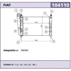 Radiador refrigeracion Fiat...
