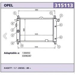 Radiador Refrigeracion Opel...
