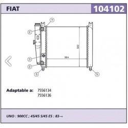 Radidor refrigeracion Fiat...