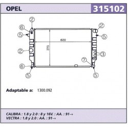 Radidor refrigeracion Opel...